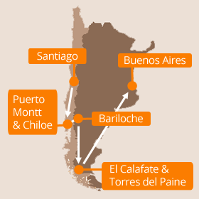 Chile Argentina Holidays Map