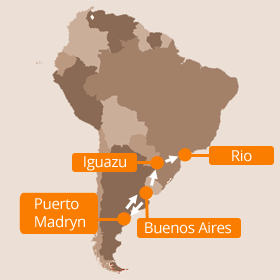 Argentina Family Holiday Map
