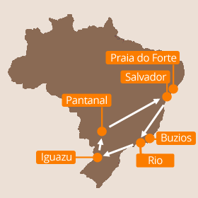 Brazil Holidays Map