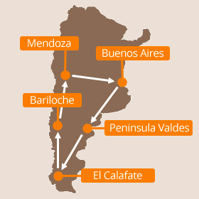 Holidays to Argentina Map