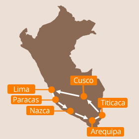 Peru Holiday Map