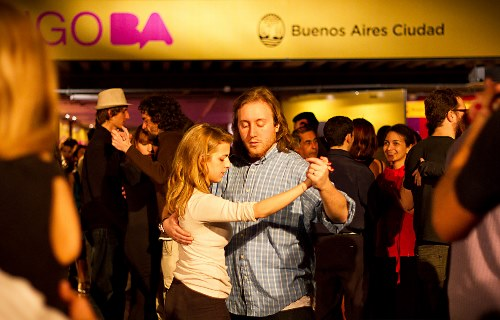 Couple dancing at the 2018 Buenos Aires Tango Festival